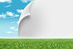 Eco living. Ecologic concept, change paper,sample your text Royalty Free Stock Photos
