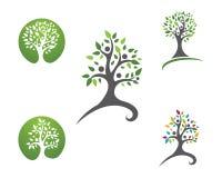 Eco loga Drzewny szablon ilustracji