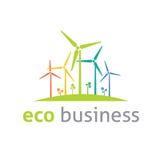 Eco loga wektoru szablon Obrazy Royalty Free