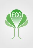 Eco logo. Type for that use in many eco-aims Royalty Free Stock Photos