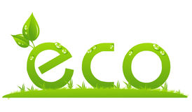 Eco logo Royalty Free Stock Photos