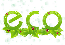 Eco logo Royalty Free Stock Images