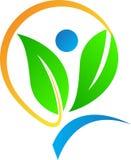Eco logo stock illustrationer