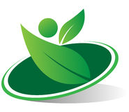 Eco logo Royaltyfria Foton
