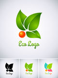 Eco logo vektor illustrationer