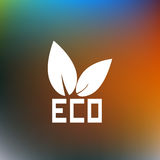 Eco logo abstract background. Vector illustration Stock Photos