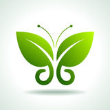 Eco logo green butterflies, illustration Stock Photo