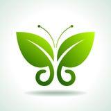 Eco logo green butterflies, illustration Stock Photo
