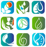 Eco logo set Royalty Free Stock Photo