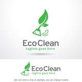 Eco Logo Template Design Vector propre illustration stock