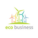 Eco logo vector template. Eco business  logo template concept Royalty Free Stock Images