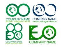 Eco Earth Logo. Illustration of save earth logo design isolated on white background Royalty Free Stock Photos