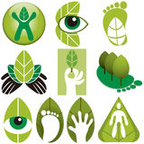 Eco Logos Vector Set Stock Photos