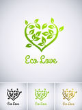 Eco love Royalty Free Stock Images