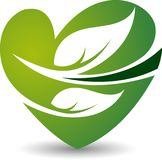 Eco love logo. Illustration drawing art a Eco love logo with white background Stock Photography