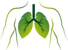Eco lungs logo. Illustration drawing art a Eco lungs logo with white background Stock Photo