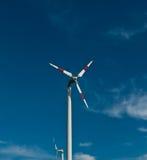 Eco makt, vindturbiner Arkivfoton