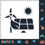Eco maktsymbol framl?nges royaltyfri illustrationer