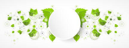 Eco manufacture abstract technology background. Royalty Free Stock Image