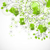 Eco manufacture abstract technology background. Royalty Free Stock Images