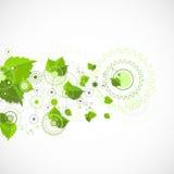 Eco manufaktury technologii abstrakcjonistyczny tło Zdjęcia Royalty Free