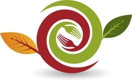 Eco matlogo stock illustrationer