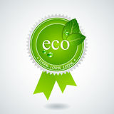 Eco Medaille Stockfoto