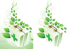 Eco medic background. All elements and textures are individual objects. Vector illustration scale to any size Royalty Free Stock Photos