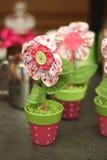 Eco met de hand gemaakte bloem Stock Foto's