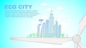 Eco miasto, przyszłości mistrzowski miasto Zdjęcie Stock