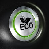 Eco Mode Button, Energy Saving Royalty Free Stock Images