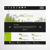 Eco Modern Website Template Stock Photography