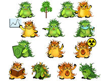 Eco-monsters set Stock Image