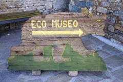 Eco Museum or Museo, in Ainsa, Huesca, Spain in Pyrenees Mountains, an old walled town near Parque National de Ordesa Stock Photography