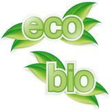Eco nad bio labels Stock Photography