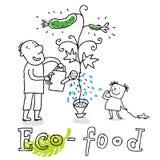 Eco Nahrung, zeichnend Lizenzfreie Stockfotografie