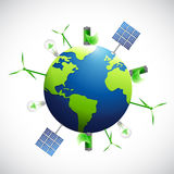 Eco natural business industrial globe. Royalty Free Stock Image