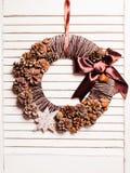 Eco natural Christmas wreath Stock Image