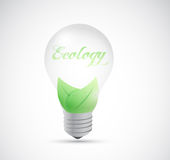 Eco natural energy light bulb illustration design Royalty Free Stock Photos
