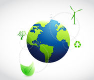 Eco natural green globe concept Royalty Free Stock Image