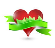 Eco natural heart illustration design Stock Photography