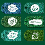 Eco Natural Lettering Royalty Free Stock Photo