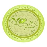 Eco natural product logo decorative oval design Royalty Free Stock Photo