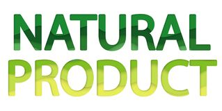 Eco natural product logo. stock photos