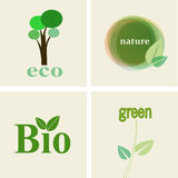 Eco, nature, Bio Set Stock Photo