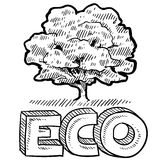 Eco or nature emblem Royalty Free Stock Photography