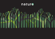 Eco and nature template design with green trees in paper art sty. Le.Vector illustration Royalty Free Stock Photography