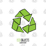 Eco is the new luxury. Original hand drawn high quality vector Stock Images