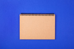 Eco notebooks on blue Stock Photos