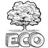 Eco o emblema della natura Fotografia Stock Libera da Diritti